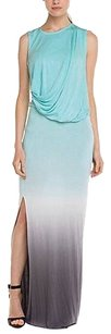 Ombre Blue Gray Maxi Dress by Young Fabulous & Broke Maxi Sleeveless Drape