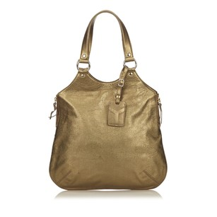 Saint Laurent Gold Leather Tote