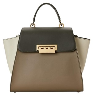 Zac Posen Satchel in Olive, Beige and Ivory