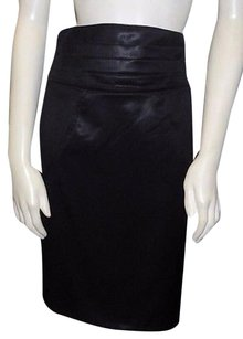 Zac Posen 100 Wool High Skirt Black