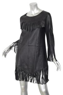 Zadig & Voltaire short dress Black Rea Deluxe Leather Fringe 38m on Tradesy