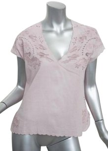 Zadig & Voltaire Womens Pale Cotton Eyelet Lace Shirt 364 Top Pink