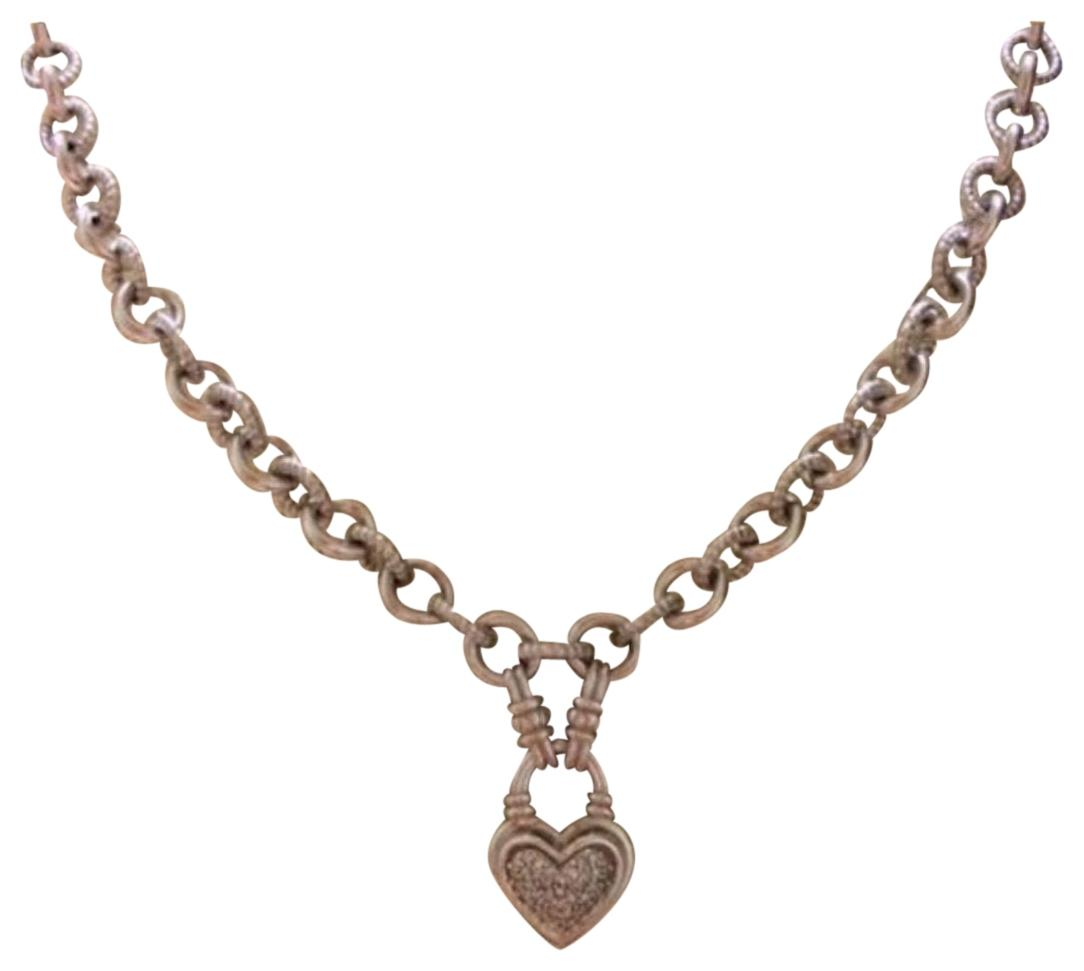 Zales Jewelry Necklaces >> Zales Silver Diamond Heart Necklace - Tradesy
