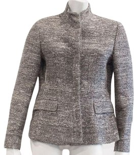 Zanella And White Fully Lined Button Up Hs1932 Gray Jacket