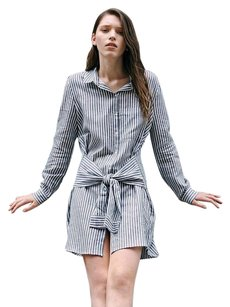 Zara short dress Stripe Shirt on Tradesy