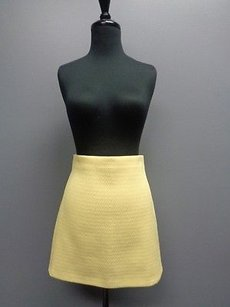 Zara Woman Textured Skirt Yellow