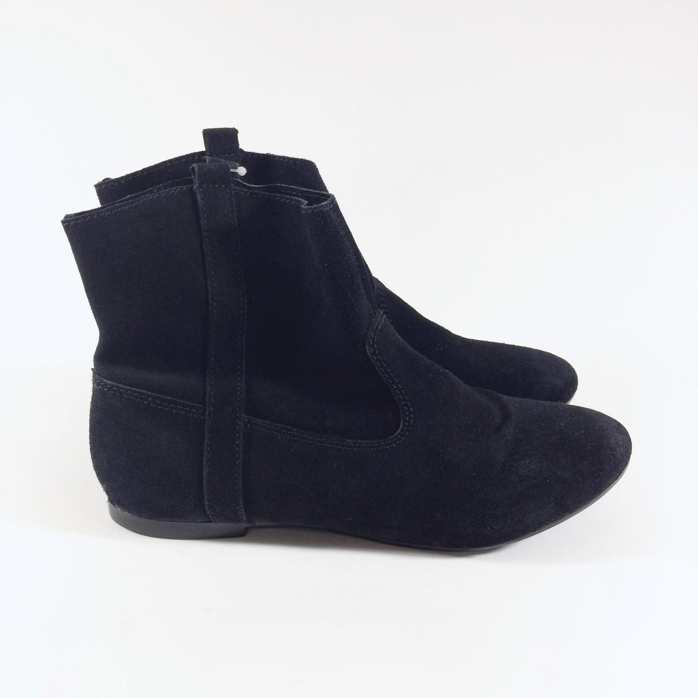 zara nwt suede ankle black boots boots booties on sale