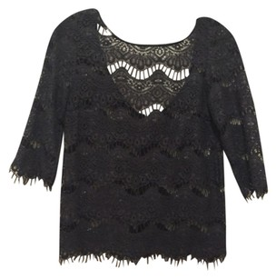Zara Lace Top Gray
