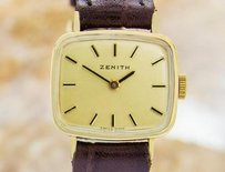 Zenith Zenith Swiss Made Ladies Mechanical Vintage Gold Plated Watch 1960s Jr12