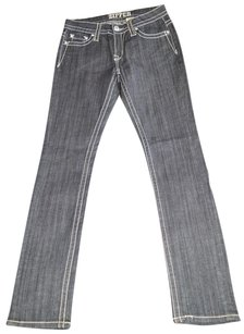 Denim Pants Straight Leg Jeans-Dark Rinse